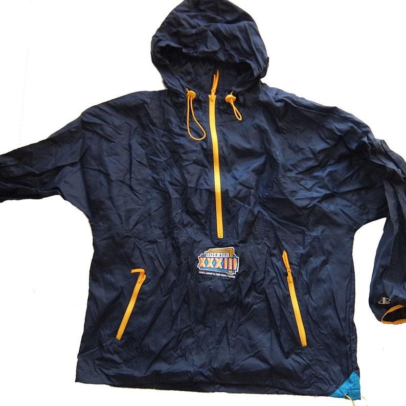 free shipping c3fa8 c8c8b Super Bowl Xxxiii ~ Miami 1999 ~ Rare Vintage Team Nfl 1/2 Zip Windbreaker  Jacket (xl)