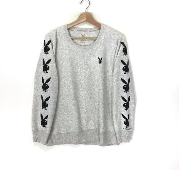 PLAYBOY BIG BUNNY Playboy Printed Big Logo Grey Cr