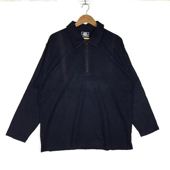 ALFREDO VERSACE Plain Retro Half Zipper Sweatshirt