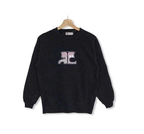 COURREGES PARIS Embroidery Spell Out Big Logo Cour