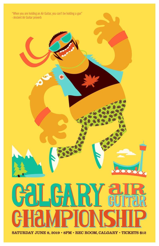 2019 Calgary Air Guitar Poster image 0