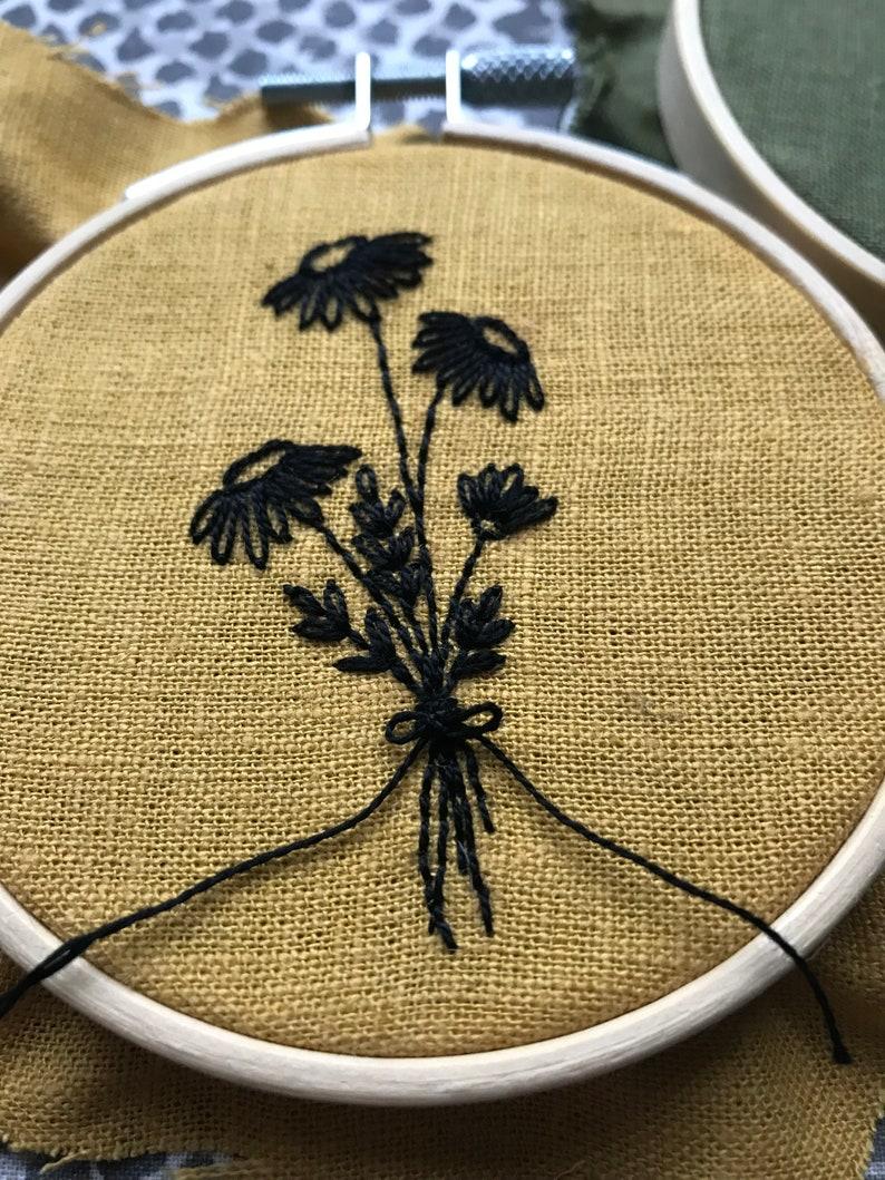 CUSTOM Wildflower Bouquet Embroidery Hoop