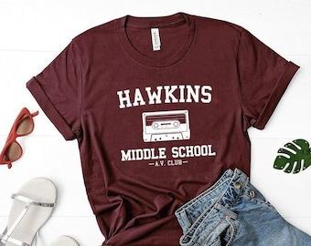 2d6c3db11 Hawkins Middle School, Stranger Things Shirt, Netflix Stranger Things 3 T- Shirt, Hawkins Indiana Shirt, Stranger Things Tee