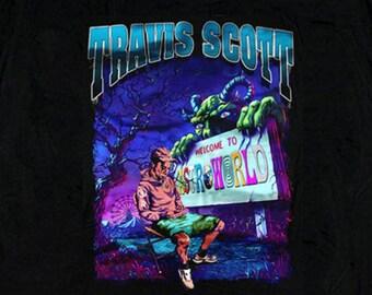 f291a18b3e18 Travis Scott Astroworld Hip Hop Rap Printed T Shirt for Women and Men