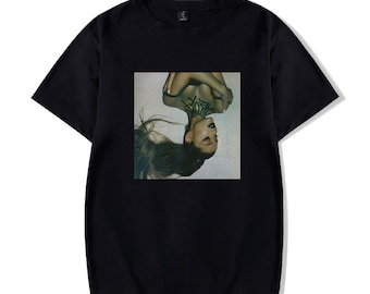 59ba03e20 Ariana Grande Thank U Next Album Merch Kawaii Harajuku Printed T Shirt for  Women and Men
