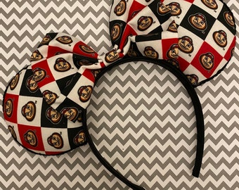 Mickey OSU Buckeyes Minnie Disney Ears Youth or Adult Sized Ohio State Themed Mouse Ears Hat