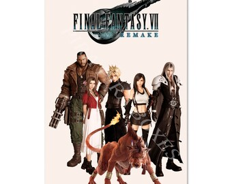 Final Fantasy 7 Remake Poster High Quality Prints Official Box Art