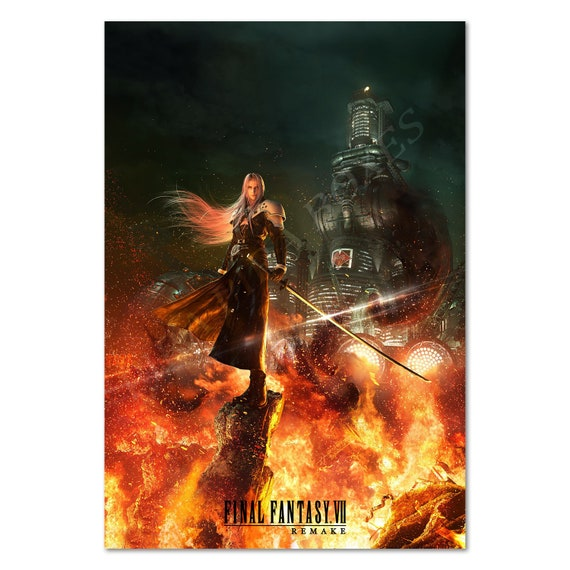 Final Fantasy Vii Remake Poster Sephiroth Exclusive Art High Quality Prints