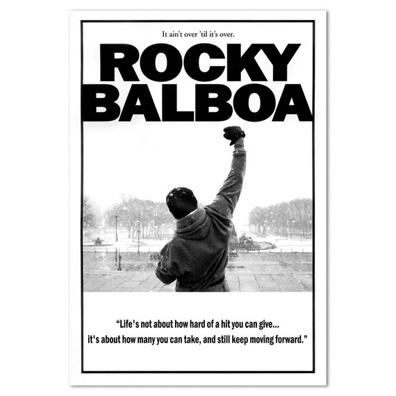 Rocky Balboa Motivational Poster Self Motivational Quote High Quality Prints