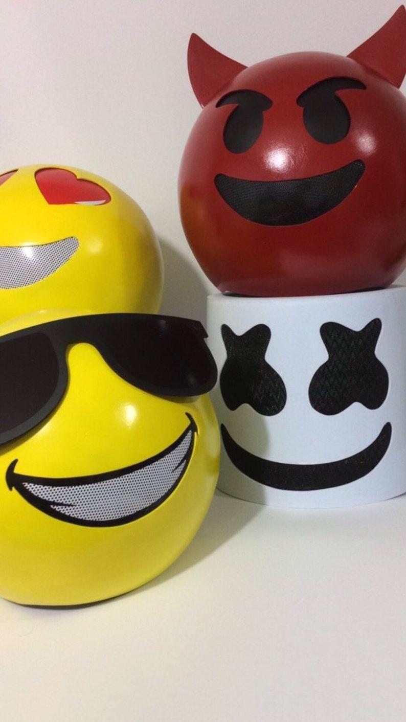Emoji helmet with sunglasses