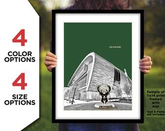 Milwaukee Skyline and Lake Michigan 3.2 Wall Art Canvas Picture Print