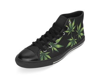 d28e17374e24 Men's Cannabis Lover Sneakers - Marijuana Leaf, Leaf flag, Ganja Weed Shoes  by Freaky Shoes, Hoodie, Shirt, Accessories,