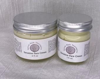 Sensitive Face Cream   Sensitive Skin   Face Lotion   Face Cream   Herbal Skincare   Calendula Moisturizer   Rosehip Helichrysum Lavender