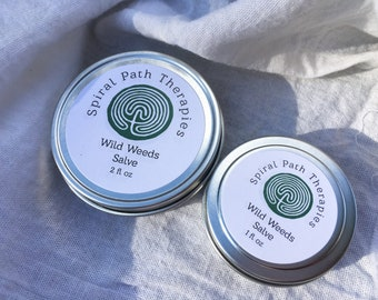 Wild Weeds Salve   All-Purpose Ointment   Cuts & Scrapes   Herbal Healing   Plantain Calendula Chickweed Comfrey Yarrow   First Aid