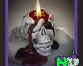 Bleeding Snake Skull Candle Made to Order