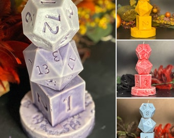 DnD Dice Tower Candle Handmade Made to order