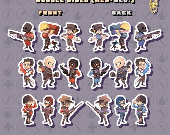 Team Fortress 2 TF2 Chibi Acrylic Charms/Keychains