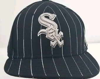 pick up 1355f d5d77 Chicago White Sox Pinstripe New Era 59fifty Fitted Hat Cap Size 7 1 2