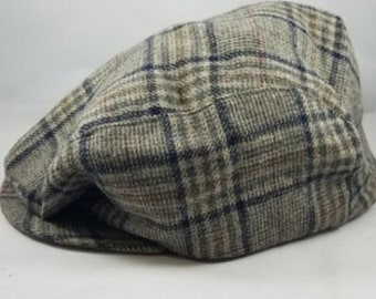 e966837b Vintage Pendleton Plaid 100% Pure Virgin Wool Newsboy Cabbie Hat Mens Sz  Large
