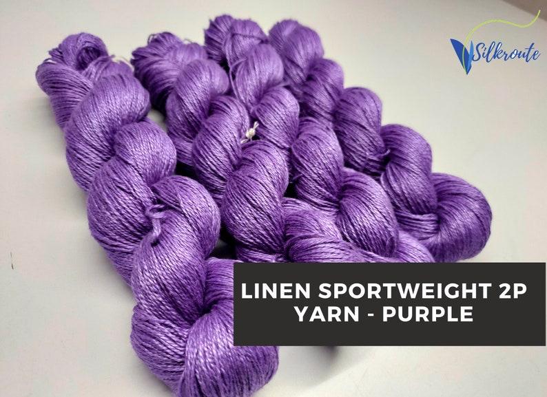 Blue Bell Summer Yarn Sportweight Yarn Linen Yarn LN-332 Crochet Yarn Weaving Yarn Linen Sportweight Yarn Sensitive Skin Yarn