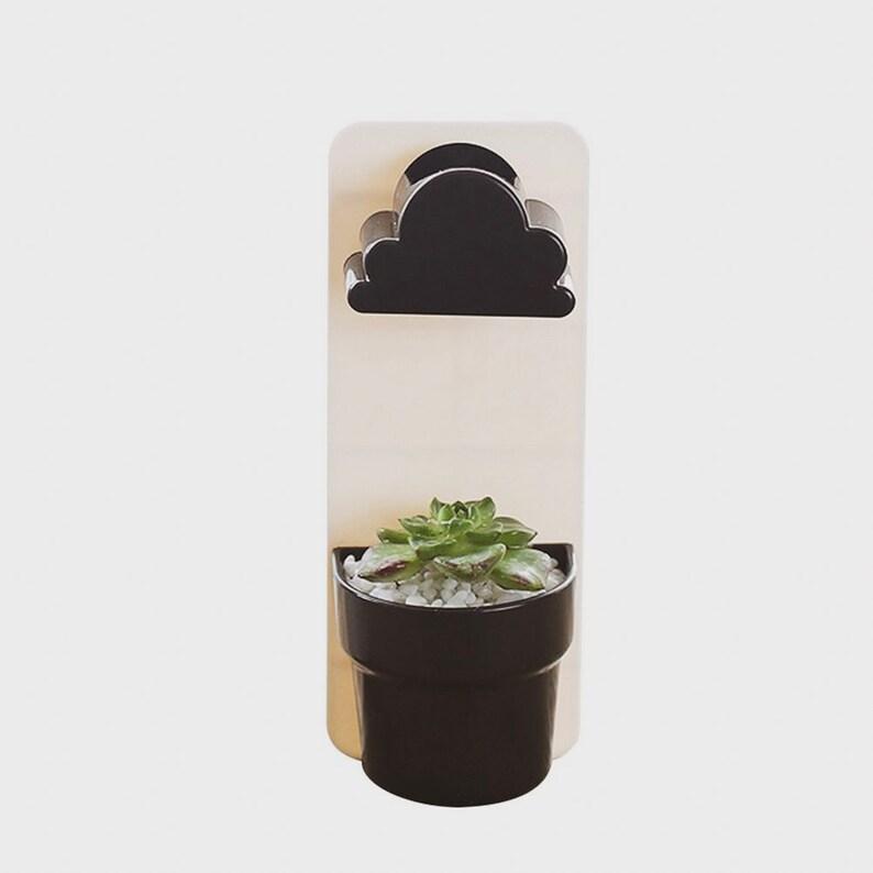 Hanging Planter Indoor Succulent Planter Mini Planter Succulents Wall Planter with a Rainy Cloud Cactus Pot Plant Hanger Succulent Gift