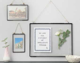 b4bd0972f41 double glass hanging photo frame