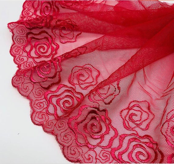 15 Floral Flower Lace Closed End Zip Pink White Red Blue Green Etc 25cm