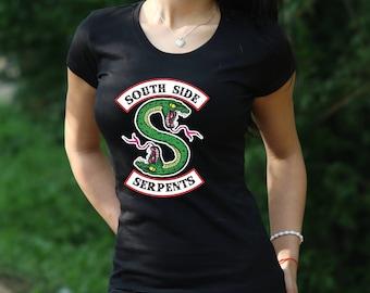 796df769f Riverdale Shirt Southside Serpents T-Shirt Riverdale Womens shirt Jughead  Jones tshirt Archie Andrews t shirt Pop's shirt gift for Women