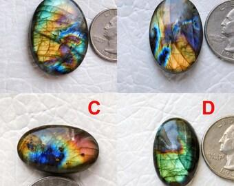 Multi Flashy Labradorite Cabochon Gemstone 51x31x8 MM 108 Cts Beautiful Handmade Smooth Labradorite Gemstone Oval Shape Size