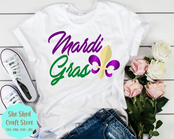 Download Mardi Gras, Princess, Fleu De Lis, Beads, Svg, Dxf, Cricut, Silhouette PNG