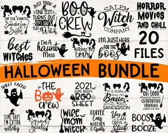 Halloween Svg Bundle, Halloween Vector, Sarcastic Svg, Dxf Eps Png, Silhouette, Cricut, Cameo, Digital, Funny Mom Svg, Witch Svg, Ghost Svg