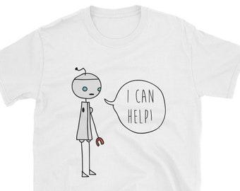 de06df16 Fargo Shirt, fargo tshirt, Fargo I can help, Minsky the robot t shirt, the  planet wyh, story of minsky, fargo minsky robot, chaperon gift