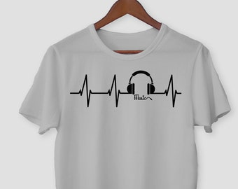 38154c4c3 Music Lifeline Shirt / Heartbeat T-shirt / Funny Music Shirt / Music Lover  Gift Tee / Music teacher DJ shirt / Music Lover Shirt / Unisex