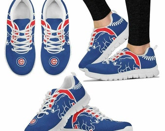 8b5a420d992 Chicago Cubs Fan Custom Unofficial Running Shoes Sneakers Trainers Alumni  Gift