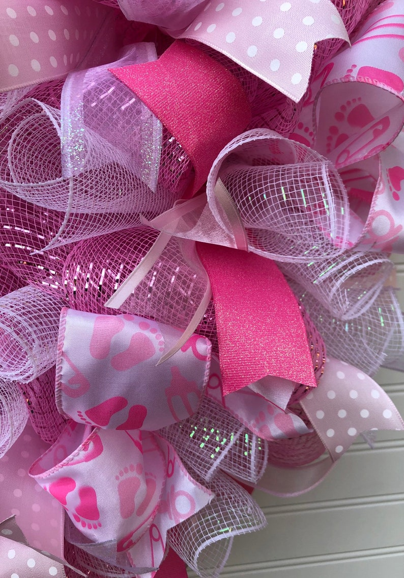 Pink Baby Shower and Nursery Wreath
