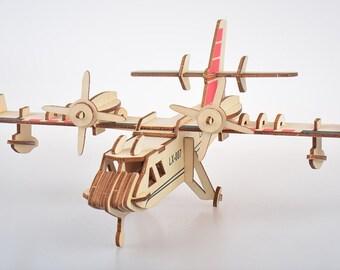 Wooden airplane kit   Etsy