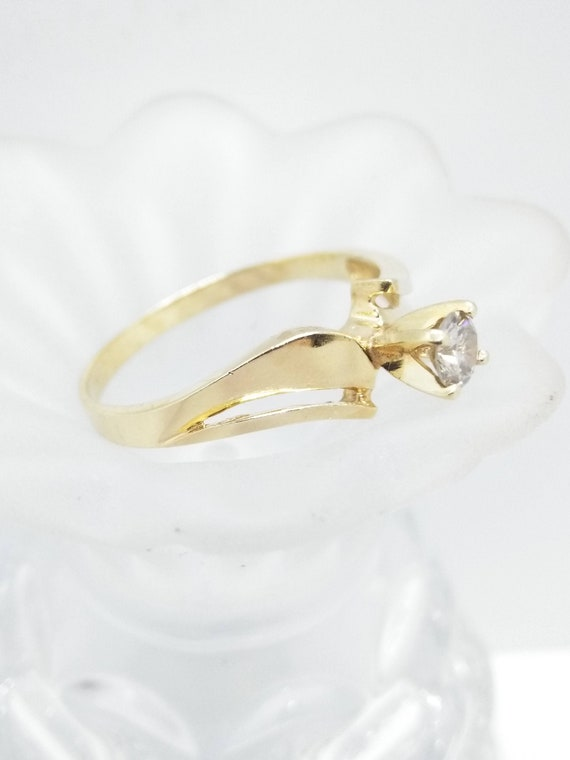 Size 9, 14k Solitaire Diamond Ring, Size 9 Solid 1