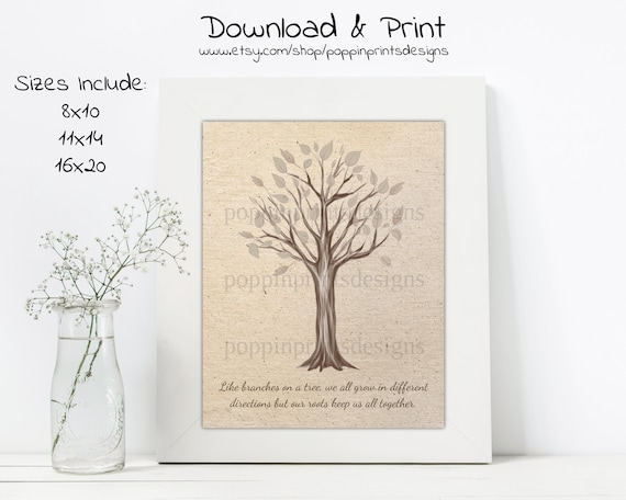 Family Tree Quote Wall Art, Family Quotes Wall Decor, Tree Quote Poster,  Family Tree Poster, Tree Print, Family Wall Art, Wall Decor