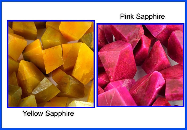 Natural Yellow /& Pink Sapphire 2000 Ct Gemstone Polished Rough Lot Season End Sale