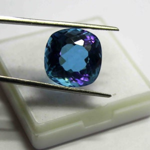 25.55 Ct Certified Natural Transparent Russian Color Changing Alexandrite Cushion Shape Gemstone Use For Ring SN1209