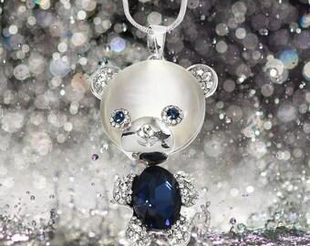 Shimmery BlueTealPurple Bear Shaped RingTrinketJewelry Dish