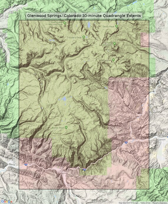 Glenwood Springs Colorado Vintage Original USGS Topo Map 1927 Flat on