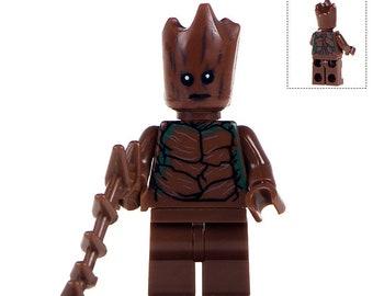 ab10ed4a3 Groot Custom Marvel Superhero Minifigure fits LEGO Guardians of the Galaxy