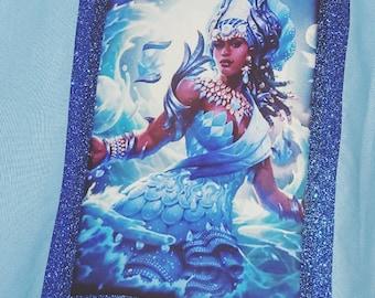 Yemaya Tote Bag   Orisha Yemaya Tote   Blue Bag