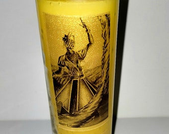 Oshun 7-Day Candle   Orisha Oshun   Healing Candle   Love Candle   Yellow   Personalized Blessings & Protection Spells