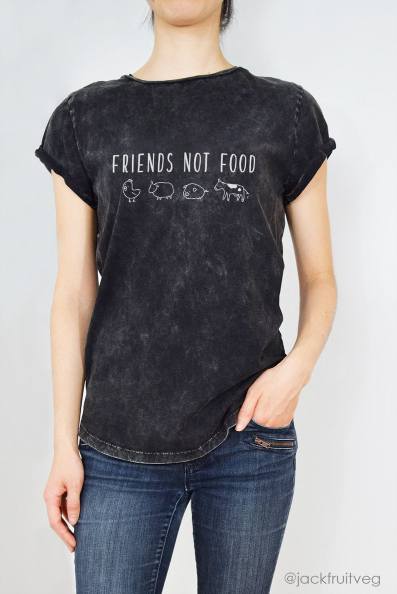 Friends Not Food  Organic Cotton Ethically made Eco Tee image 0