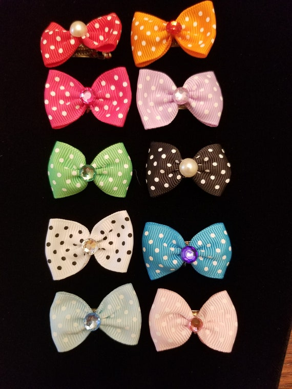 50 PIECE BLACK PINK  BOWS COLLECTION