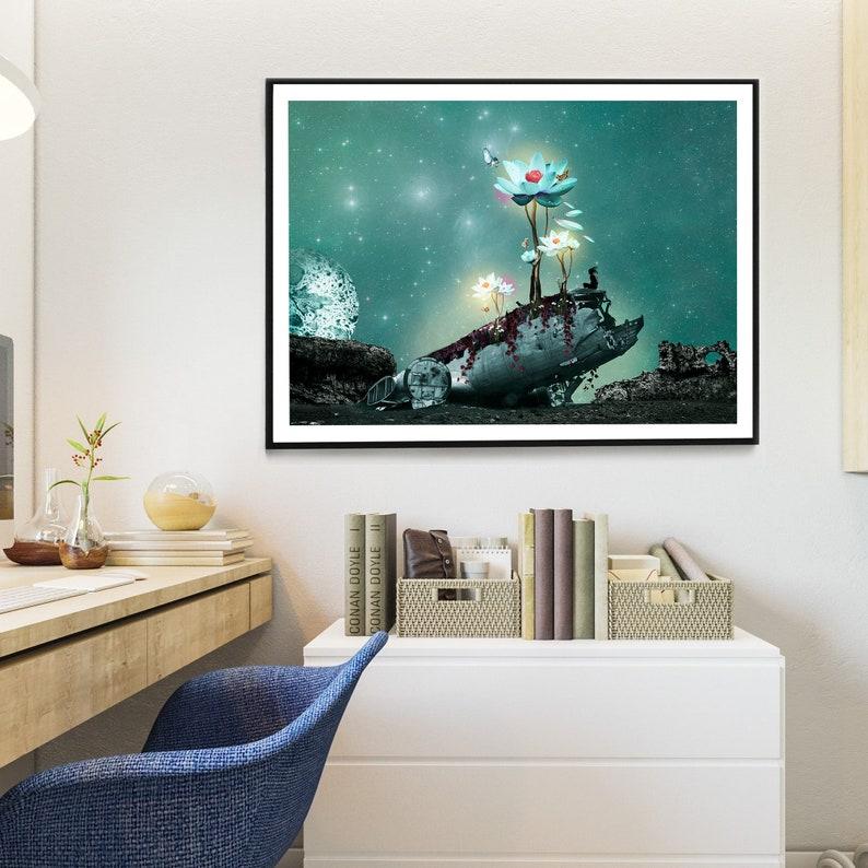 Art print for home decoration surreal original and fantastic image 0