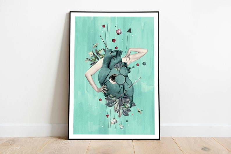Beautiful artprint with surreal  magical vibrant with image 0