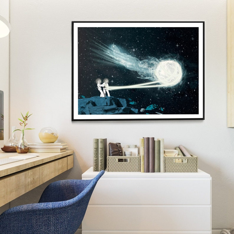 Beautiful surreal and cosmic art poster gift for lovers of image 0